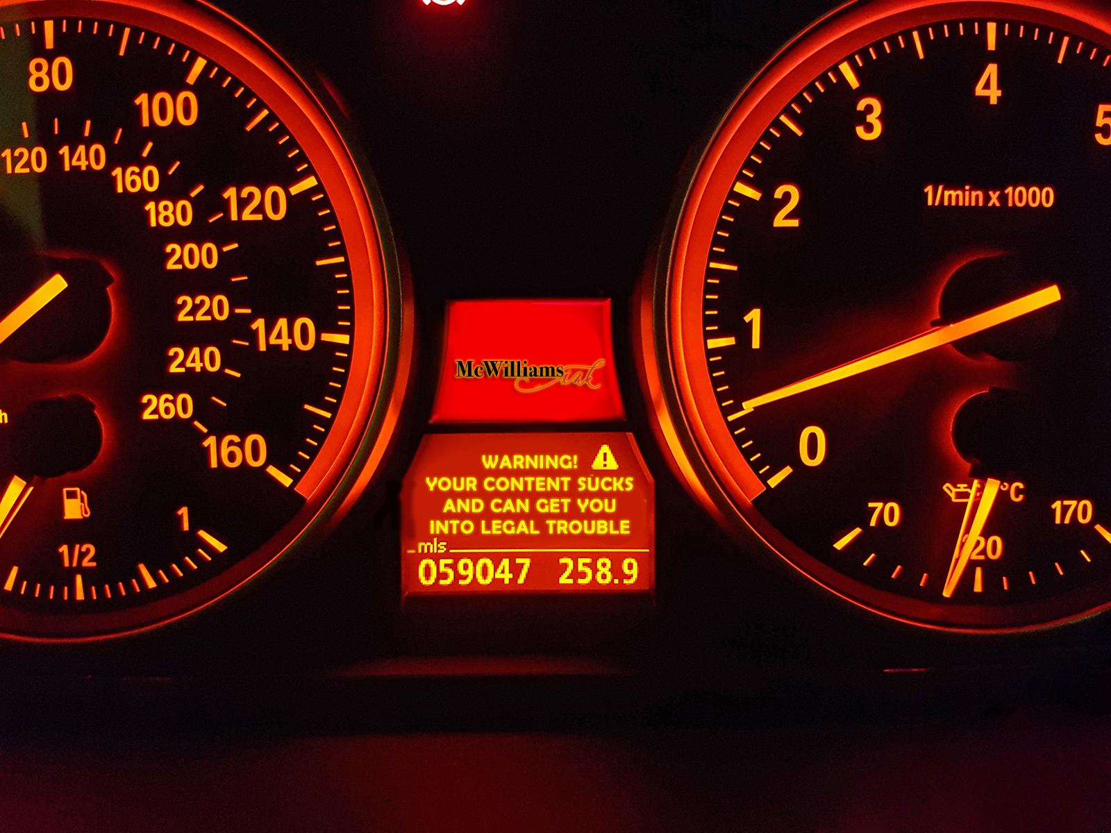automotive social media content